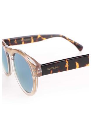 Světle růžové unisex sluneční brýle Komono Clement - 3