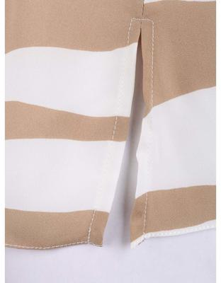 Creamy-beige blouse with golden trim on the sleeves Dorothy Perkins - 3