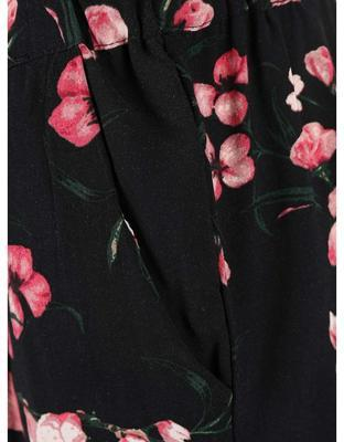 Black pants with flowers Vero Moda Super - 3