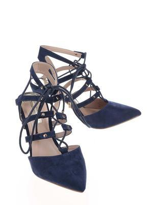Dark blue sandals in suede adjustment Dorothy Perkins - 3