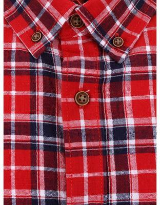 Blue-and-red checked shirt Burton Menswear London - 3