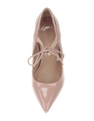 Powder pink high heels with shiny details Dorothy Perkins - 3