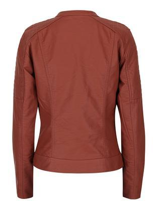 Brick leatherette jacket ONLY New Start - 3