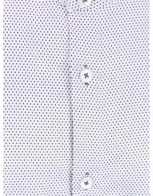 Bílá vzorovaná košile bez límečku Burton Menswear London - 3