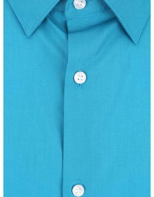 Turquoise formal slim fit shirt Burton Menswear London - 3