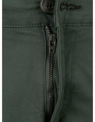Tmavě zelené kalhoty Selected Three Paris - 3