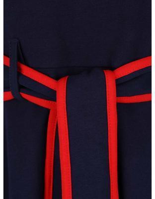 Tmavo modré šaty s červeným lemovaním Dorothy Perkins - 3