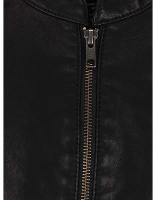 Černá koženková bunda Jack & Jones Rush - 3