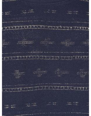 Modrá vzorovaná mikina Jack & Jones Austin - 3