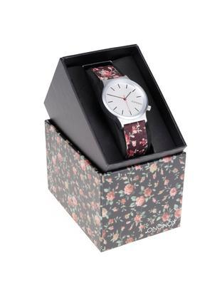 Burgundy ladies watch with a pattern Komono Wizard Print Roseberry - 3