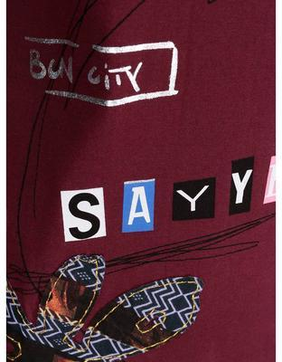 Burgundy shirt with a pattern Desigual Clara - 3