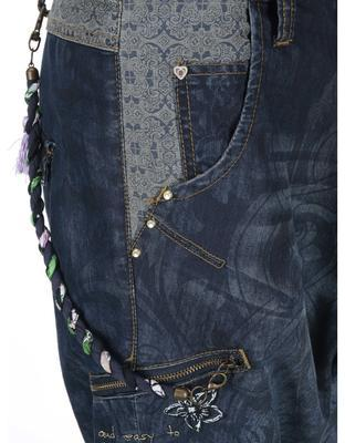 Patterned blue jeans with a reduced seven Desigual Turko Galactic - 4