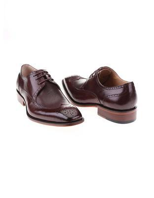 Burgundy-brown leather shoes Dice Harris - 4