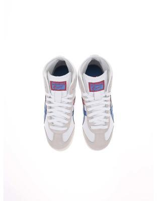 White unisex leather ankle sneakers Onitsuka Tiger Mexico Mid Runner - 4