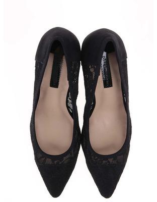 Black lace heeled pumps Dorothy Perkins Emie - 4