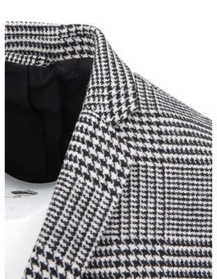 Černo-bílý kabát se vzorem glenček Jack & Jones Abalon - 4