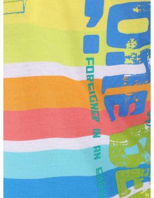 Farebné pruhované chlapčenskú polo triko Boboli - 4