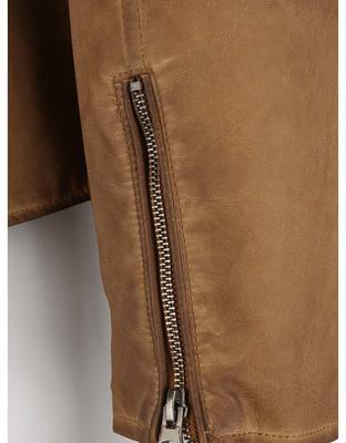 Light brown leatherette jacket Shine Original Travis - 4
