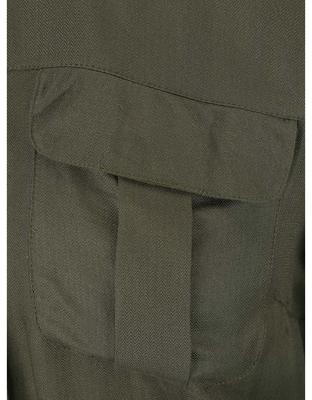 Khaki košeľa s gombíkmi v zlatej farbe Dorothy Perkins - 4