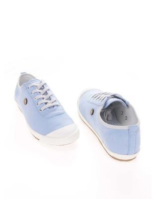 Light blue mens canvas sneakers phage Oak - 4
