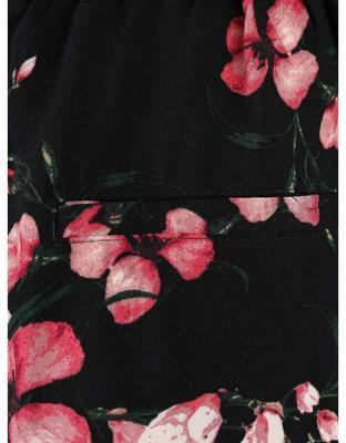 Black pants with flowers Vero Moda Super - 4