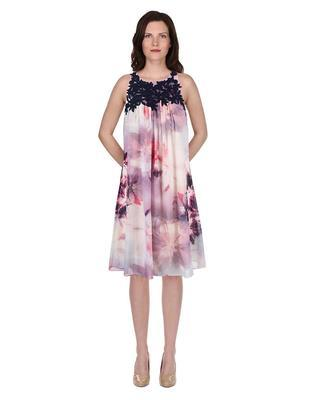 Flowered dress with blue embroidery Dorothy Perkins - 4