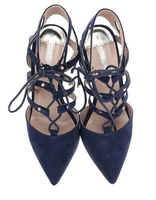 Dark blue sandals in suede adjustment Dorothy Perkins - 4
