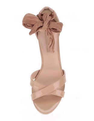 Béžové sandály na jehlovém podpatku Dorothy Perkins - 4