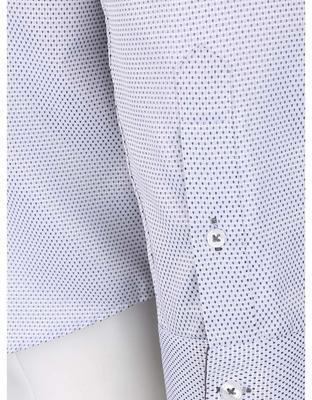 Bílá vzorovaná košile bez límečku Burton Menswear London - 4