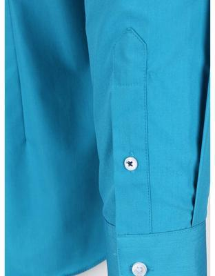 Turquoise formal slim fit shirt Burton Menswear London - 4
