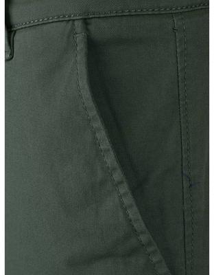 Tmavě zelené kalhoty Selected Three Paris - 4