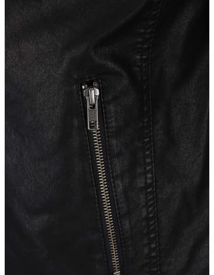 Čierna koženková bunda Jack & Jones Rush - 4