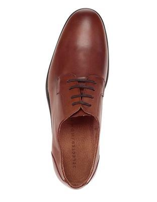 Brown leather shoes Selected Oliver - 4