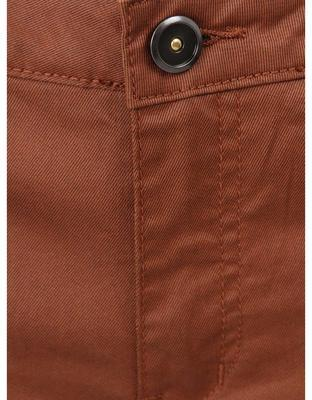 Brown pants with leatherette effect Vero Moda Wonder - 4