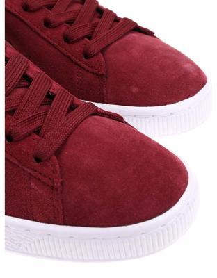 Creamy burgundy leather men sneakers Puma Suede Classic + - 4