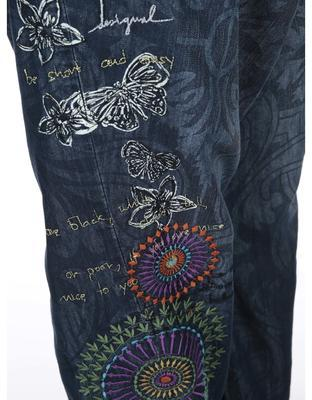 Patterned blue jeans with a reduced seven Desigual Turko Galactic - 5