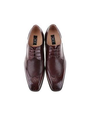 Burgundy-brown leather shoes Dice Harris - 5