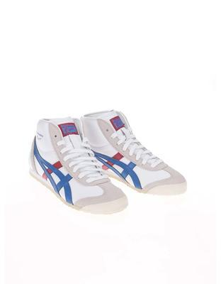 White unisex leather ankle sneakers Onitsuka Tiger Mexico Mid Runner - 5