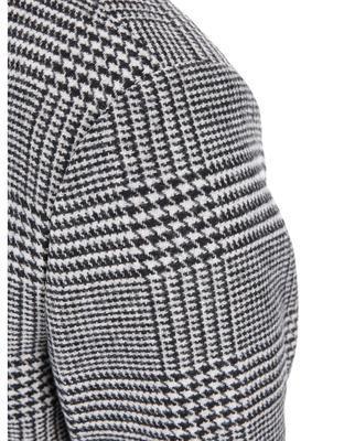 Černo-bílý kabát se vzorem glenček Jack & Jones Abalon - 5