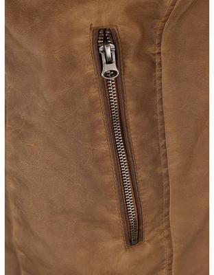 Light brown leatherette jacket Shine Original Travis - 5