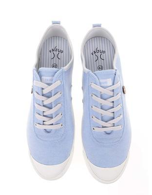 Light blue mens canvas sneakers phage Oak - 5