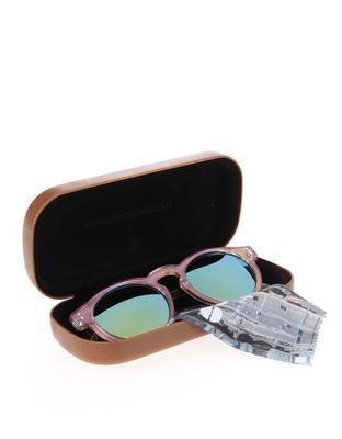Světle růžové unisex sluneční brýle Komono Clement - 5