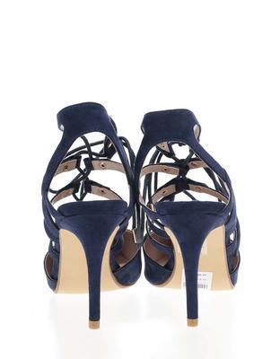 Dark blue sandals in suede adjustment Dorothy Perkins - 5