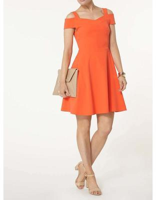 Orange dress with slashes on his shoulders Dorothy Perkins - 5