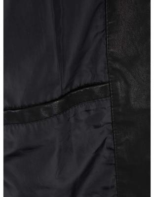 Černá koženková bunda Jack & Jones Rush - 5