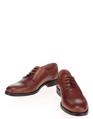 Brown leather shoes Selected Oliver - 5