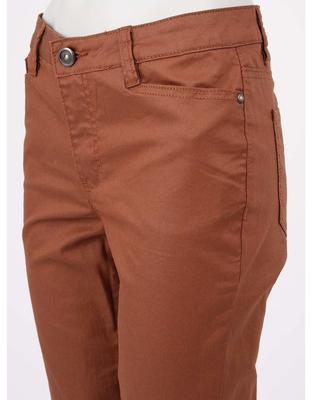 Brown pants with leatherette effect Vero Moda Wonder - 5