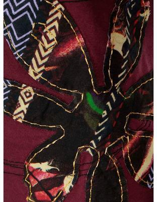 Burgundy shirt with a pattern Desigual Clara - 5