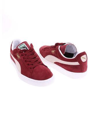 Creamy burgundy leather men sneakers Puma Suede Classic + - 5