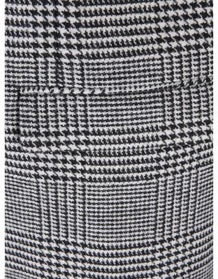 Black-and-white coat with a pattern glen plaid Jack & Jones Abalon - 6